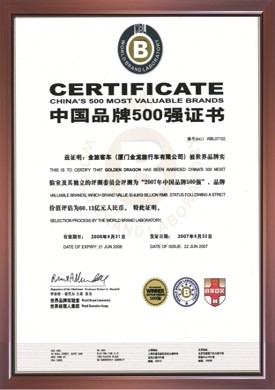 500 Top Brand of China