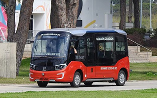 Golden Dragon Astar Autonomous Driving Bus Arrives in Israel for Road Test